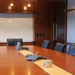 Office Meeting Room with Downlights and Board Table